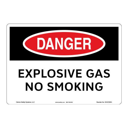Danger/Explosive Gas Sign (OS1072DH-)