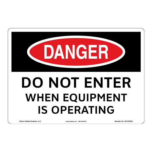 Danger/Do Not Enter Sign (OS1076DH-)