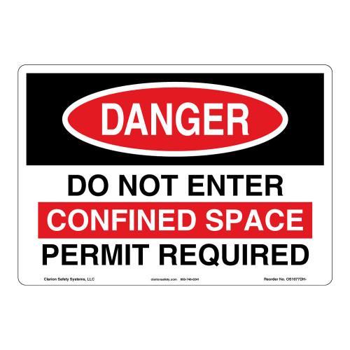 Danger/Do Not Enter Sign (OS1077DH-)