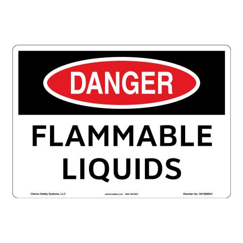 Danger/Flammable Liquids Sign (OS1080DH-)