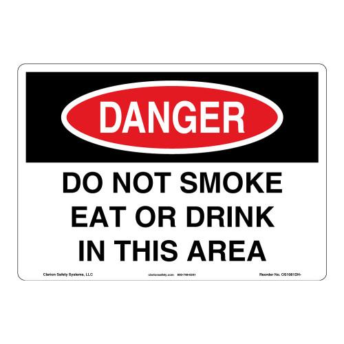 Danger/Do Not Smoke Sign (OS1081DH-)
