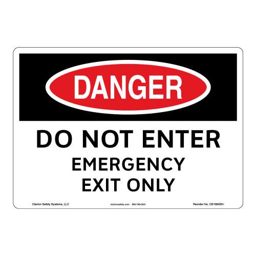 Danger/Do Not Enter Sign (OS1084DH-)