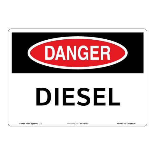 Danger/Diesel Sign (OS1085DH-)