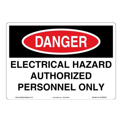 Danger/Electrical Hazard Sign (OS1087DH-)