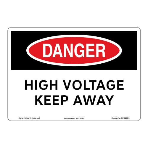 Danger/High Voltage Sign (OS1090DH-)
