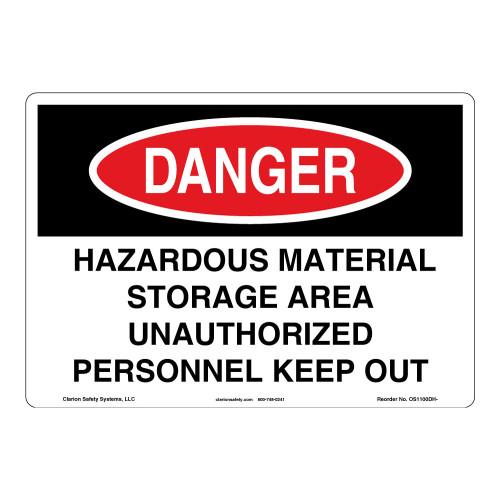 Danger/Hazardous Material Sign (OS1100DH-)