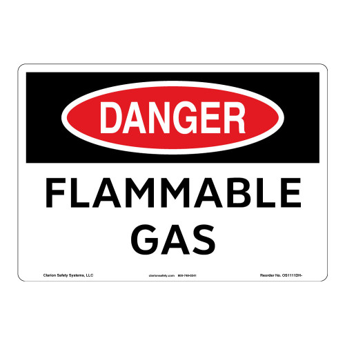 Danger/Flammable Gas Sign (OS1111DH-)