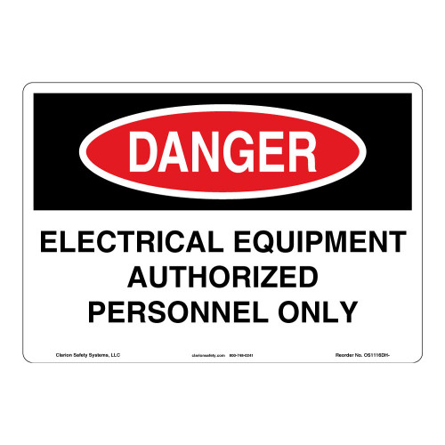 Danger/Electrical Equipment Sign (OS1116DH-)