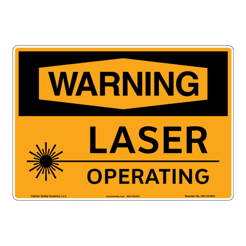 Warning/Laser Operating Sign (OS1131WH-)
