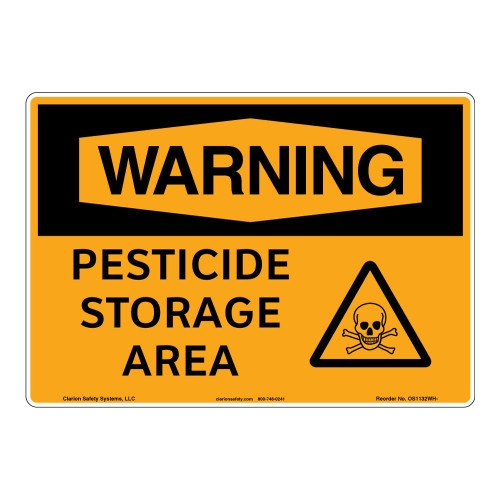 Warning/Pesticide Storage Area Sign (OS1132WH-)