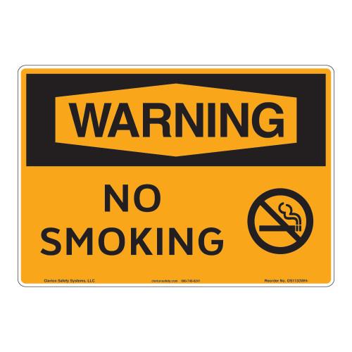 Warning/No Smoking Sign (OS1133WH-)