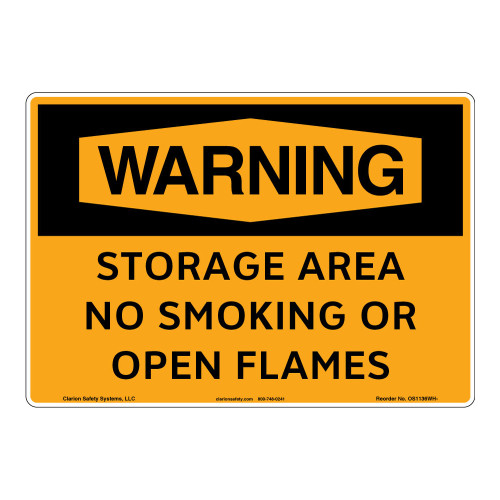 Warning/Storage Area Sign (OS1136WH-)
