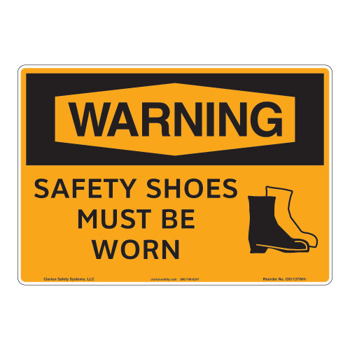 Warning/Safety Shoes Sign (OS1137WH-)