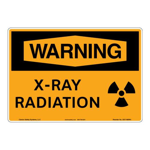 Warning/X-Ray Radiation Sign (OS1148WH-)