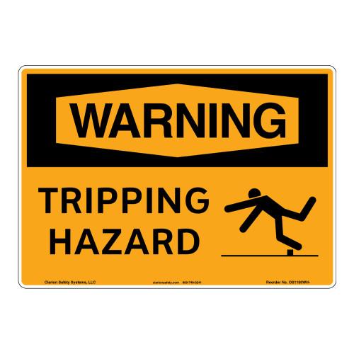 Warning/Tripping Hazard Sign (OS1150WH-)