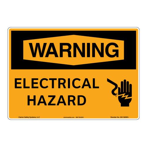 Warning/Electrical Hazard Sign (OS1156WH-)