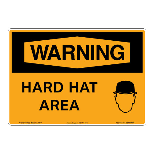 Warning/Hard Hat Area Sign (OS1158WH-)