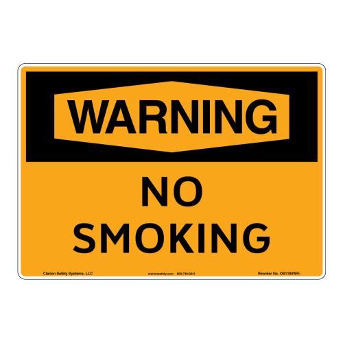 Warning/No Smoking Sign (OS1160WH-)