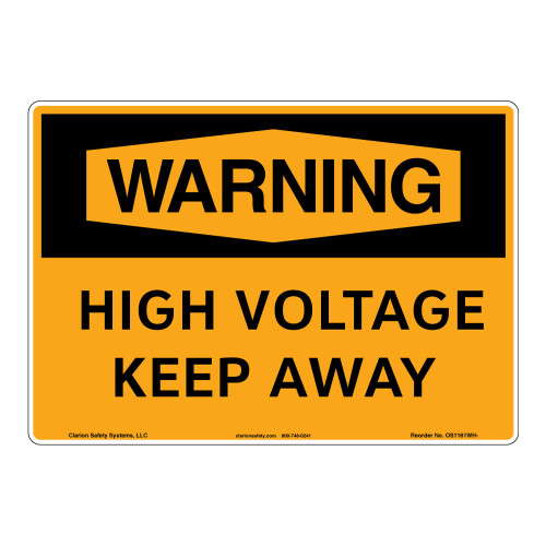 Warning/High Voltage Sign (OS1161WH-)