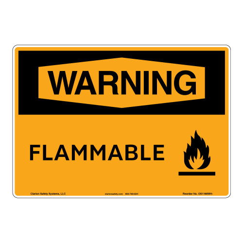Warning/Flammable Sign (OS1168WH-)