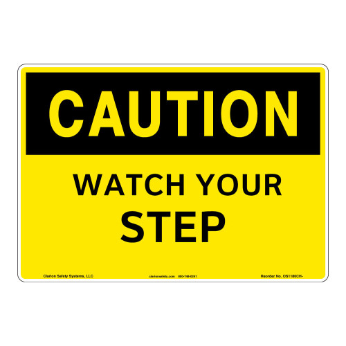 Caution/Watch Your Step Sign (OS1180CH-)