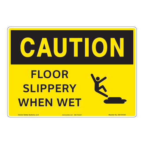 Caution/Slippery When Wet Sign (OS1181CH-)