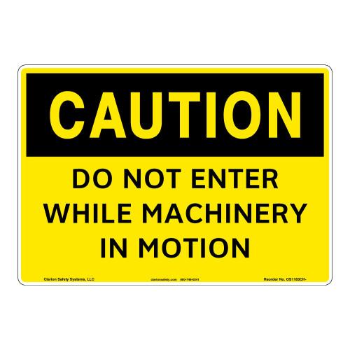 Caution/Do Not Enter Sign (OS1183CH-)