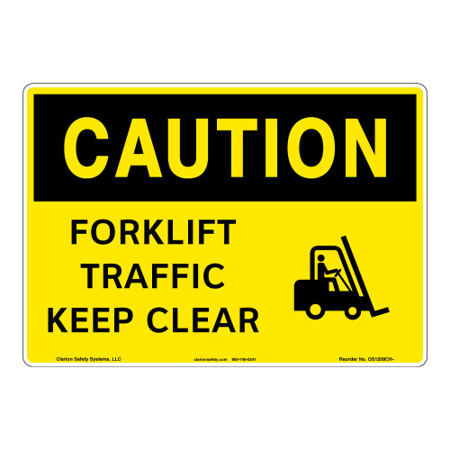Caution/Forklift Traffic Sign (OS1208CH-)