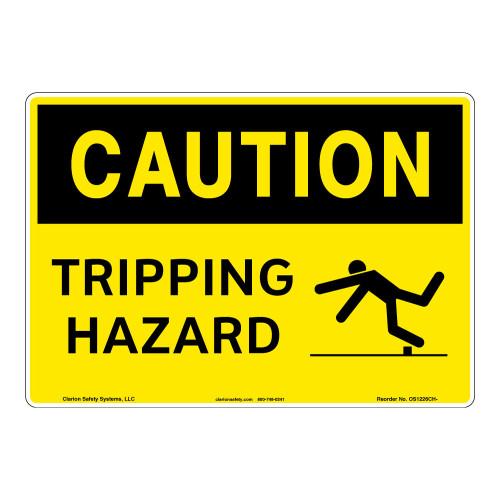 Caution/Tripping Hazard Sign (OS1226CH-)