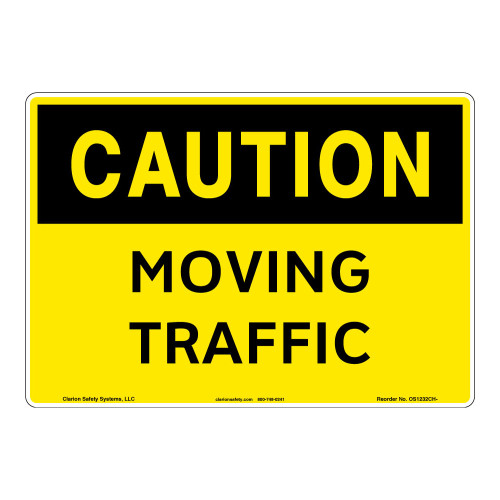 Caution/Moving Traffic Sign (OS1232CH-)