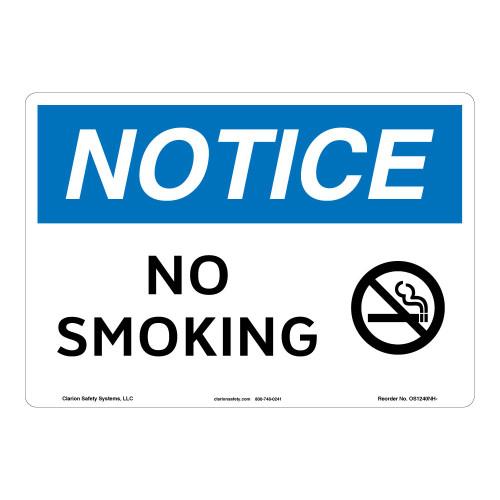 Notice/No Smoking Sign (OS1240NH-)