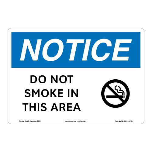 Notice/Do Not Smoke Sign (OS1258NH-)