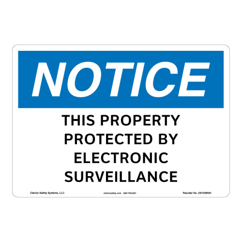 Notice/This Property Protected Sign (OS1259NH-)