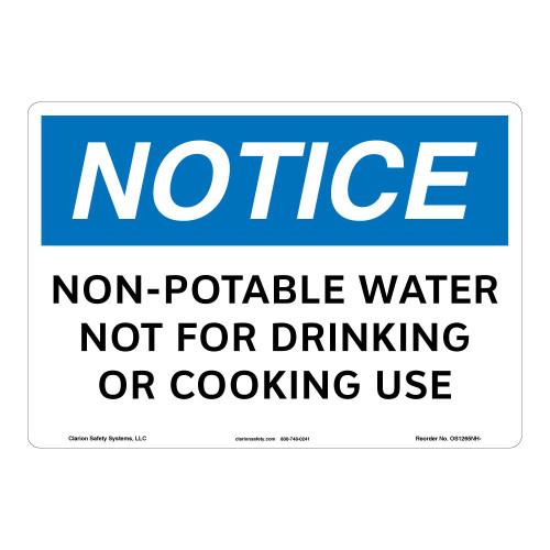 Notice/Non-Potable Water Sign (OS1265NH-)