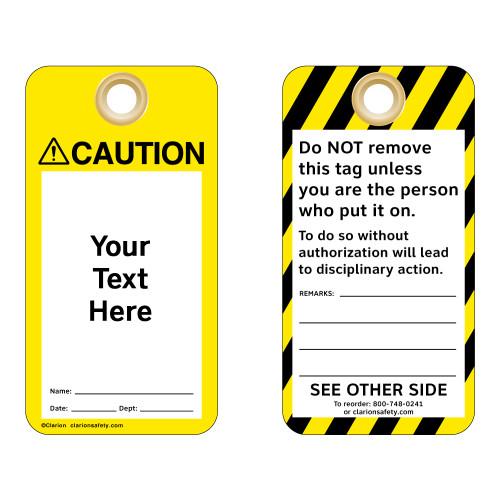 Custom Caution Tag