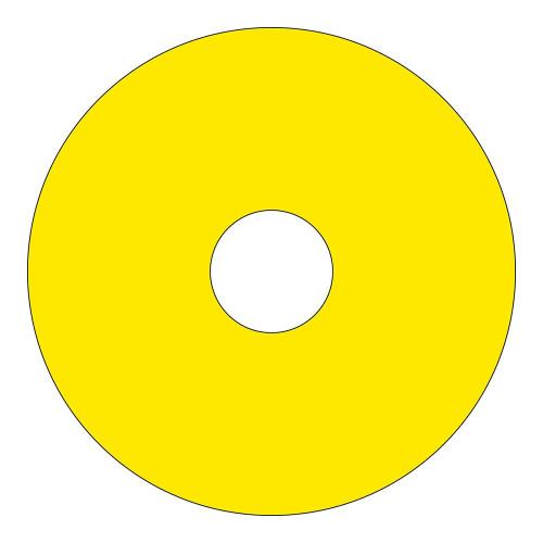Emergency Stop (90mm Circle w/22.5mm Hole) Label (ES90-22.5B)