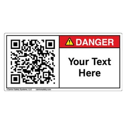 Custom QR Code Label - Danger