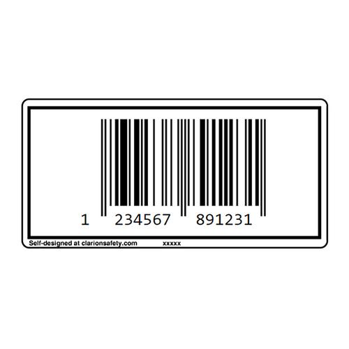 Custom EAN-13 Barcode Label