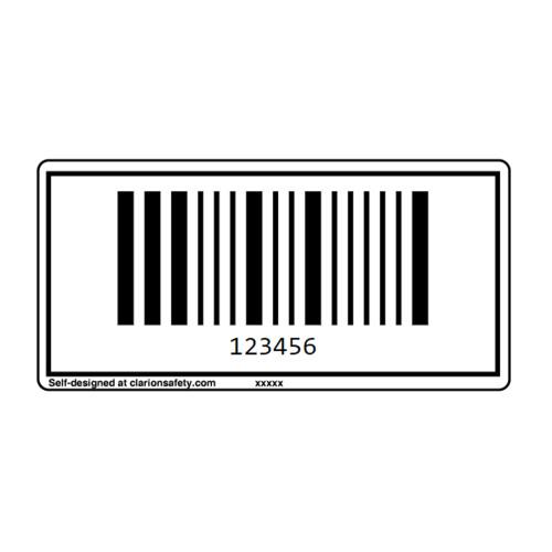 Custom Pharmacode Barcode Label
