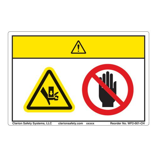 Caution/Crush Hazard Label (WF2-001-CH)