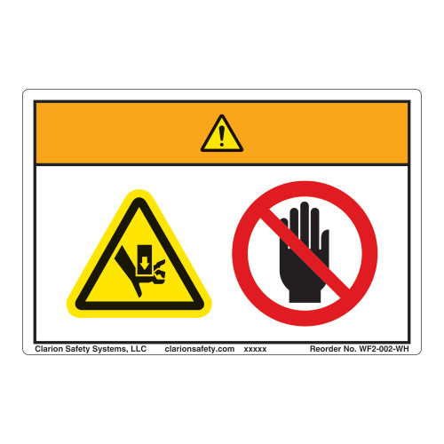 Warning/Crush Hazard Label (WF2-002-WH)