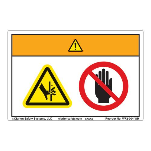 Warning/Crush Hazard Label (WF2-004-WH)