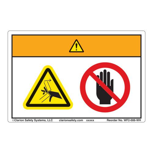 Warning/Crush Hazard Label (WF2-006-WH)