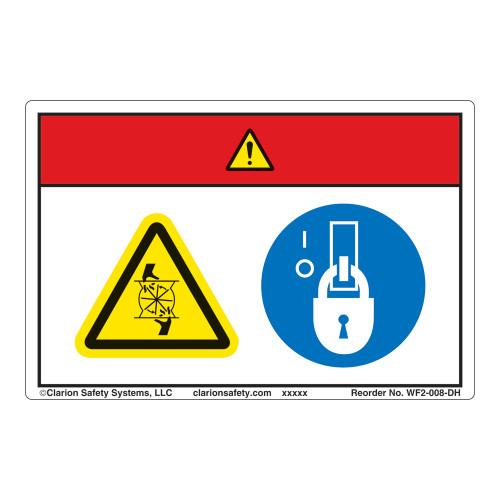 Danger/Rotating Blade Label (WF2-008-DH)