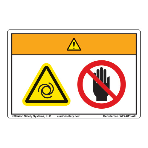 Warning/Equipment Starts Automatically Label (WF2-011-WH)