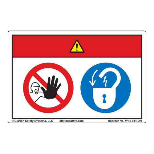 Danger/Equipment Starts Automatically Label (WF2-014-DH)