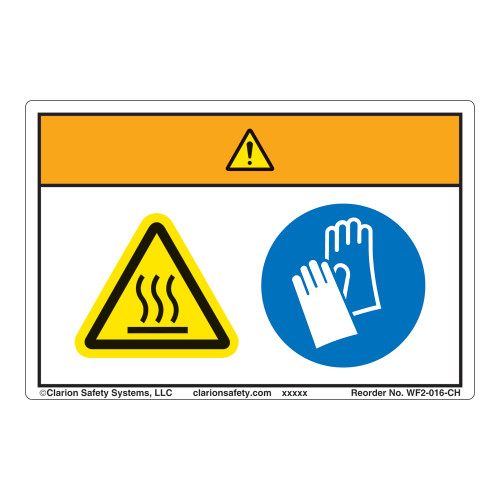 Warning/Hot Oven Label (WF2-016-WH)