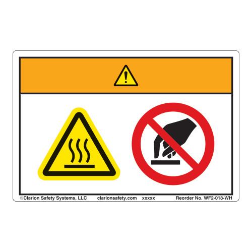 Warning/Burn Hazard Label (WF2-018-WH)