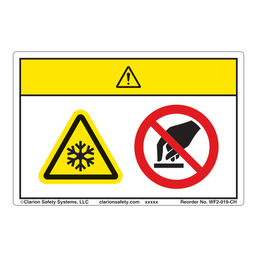 Caution/Extremely Cold Surface Label (WF2-019-CH)