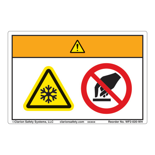 Warning/Extremely Cold Surface Label (WF2-020-WH)